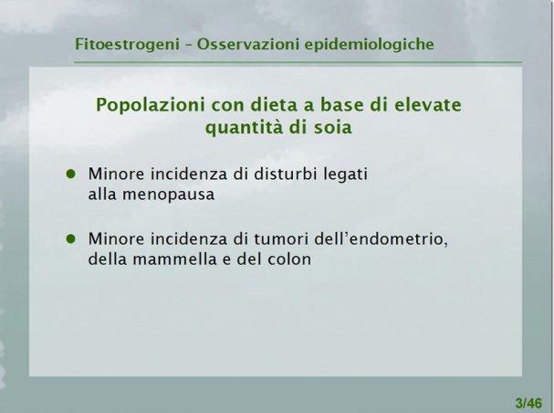 Fitoestrogeni: epidemiologia