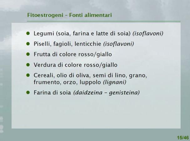 Fitoestrogeni: Fonti alimentari
