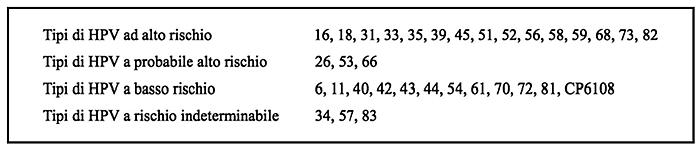 Papilloma virus alto e basso rischio. Dictionar italiana-romana, Papilloma virus basso rischio