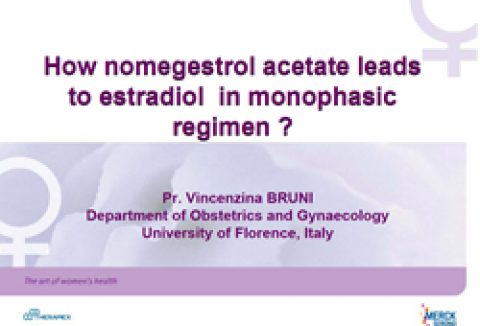 How nomegestrol acetate leads to estradiol in a monophasic regimen