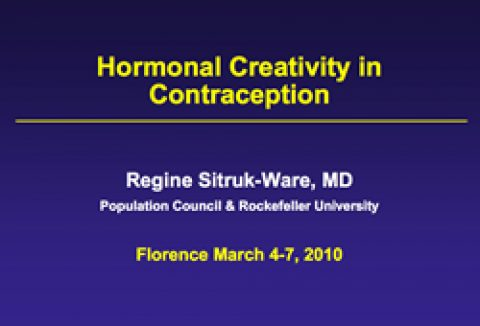 Hormonal creativity in contraception