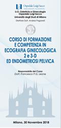 CORSO DI FORMAZIONE E COMPETENZA IN ECOGRAFIA GINECOLOGICA 2e3-D ED ENDOMETRIOSI PELVICA