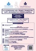LO SCREENING NEL PRIMO TRIMESTRE: NIPT, ECOGRAFIA E PREECLAMPSIA