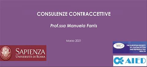 Consulenze contraccettive - Prof.ssa Manuela Farris